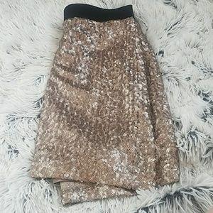 Rose Gold Sequin Mini